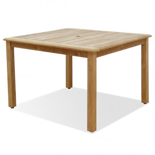 Table en bois de Teck intérieur/extérieur