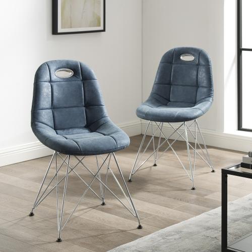 Monte-Carlo chaises (2) d'appoint   bleu acier