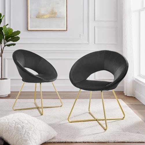 Chaises d'intérieur Scotti  (2) velours noir